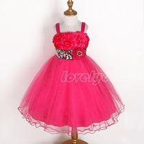 Vestido Infantil Crianca Festa. Aniversario. Pink Barbie