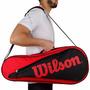 Raqueteira Wilson Six Bag Vermelha Preta