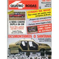 Quatro Rodas Nº310 Maio 1986 Vw Santana Cbx 750f D20 Escort