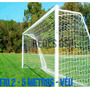 Par Rede Gol Futebol Society Fio 2mm - 5 Metros - Véu