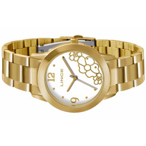 Relógio Feminino Lince Dourado (orient) Lrg4284l Prova Dágua