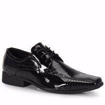 Sapato Social Preto Masculino Verniz Novo Frete Gratis