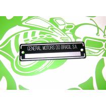 Plaqueta Chassi General Motors Opala Chevette - Old Design