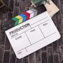 Claquete Profissional Acrilico Produção Filme Video Estudio