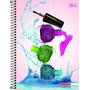 Caderno Flex 10 Matérias 200 Fls Mais+ Feminino Esmalte