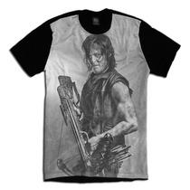 The Walking Dead Face Daryl Serie Camiseta Personalizada