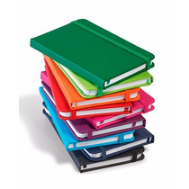 Caderneta Tipo Moleskine Colorida - 1 Unidade