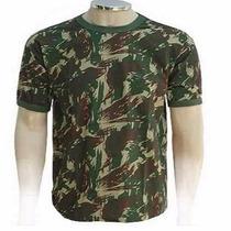 Camiseta Camuflada Camisa Malha Algodão Paintball Airsoft
