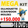 Dvd Mega Kit Scrapbook Digital + Sillhouette E Moldes