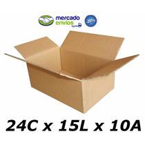 25 Caixas De Papelão 24 X 15 X 10 Tipo 2p Correio Pac Sedex