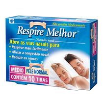 Respire Melhor Dilatador Nasal Pele Normal 10 Tiras