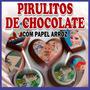 Pirulitos De Chocolate Personalizados Com Papel Arroz