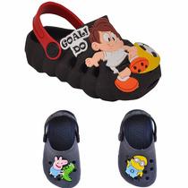 Sandalia Crocs Chinelo Papet Babuche Infantil Masculino