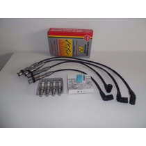 Kit De Velas Originais Vw E Cabos Ngk Gol G5/g4/fox 1.0/1.6