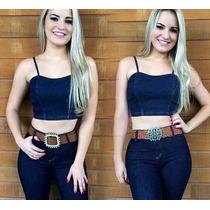 Calça Jeans Feminina Com Lycra, Cintura Alta, Hot Pants,