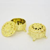 Mini Porta-joia Dourado Pacote Com 10 Unidades