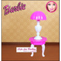 Mesa Com Abajur P/ Boneca Barbie * Sala * Móveis * Casa