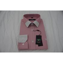 Camisa Social Masculina Armani , Cor Vermelho Branco
