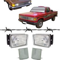 2 Farol Opala Caravan D20 + 2 Lanterna Pisca Cristal 80 A 92