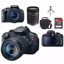 Canon Eos T5i Lente18-135mm Stm+bolsa+tripe+32gb Classe10+uv