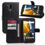 Capa Estilo Carteira Para Smartphone Moto G4 Plus