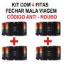 Kit 4 Cintas Fitas Mala Viagem Código Anti Roubo Aeroporto