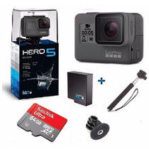 Go Pro Hero5 Black Camera Gopro 5 Tela Lcd + 64gb + Bateria