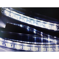 Par Lanternas Para Carros Universal Led Diurnas C/8 Luzes