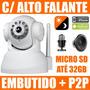 Camera Ip Wireless Infra P2p Alto Falante Embutido Micro Sd