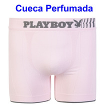 Cueca Rosa Perfumada Boxer Sem Costura Playboy Vivishop
