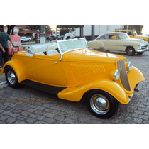 Hot Rod Ford 1934 V8 Conversível Chassi De Inox New Car