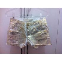 Short Feminino Dimy Detalhe Dourado Número 34