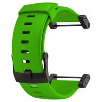 Pulseira Para Suunto Core Green Rubber Strap Qualquer Core