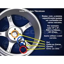 Anéis Centralizadores Para Roda De Liga Leve (jogo 4 Peças)