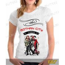 Baby Look Gothan City Camisa Games Herois Desenhos Series