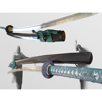 Espada Samurai Katana - Aço Damasco 1095/1060 Dobrado 16 X