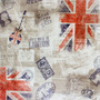 Tecido Corino Retro Inglaterra London Sintético
