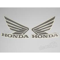 Adesivos Asa Honda Tanque Cb300r Resinados Em Prata - Decalx