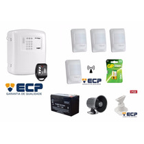 Kit Alarme Ecp Alard Max 4 + Sirene Corneta + Acessórios