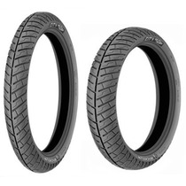 Par Pneu 275-18 + 350-16 Michelin City Pro Intruder E Kansas