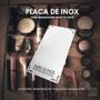 Placa De Inox Para Maquiagem