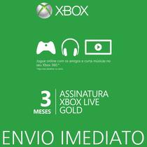 Xbox Live Gold Brasil Br Cartão De 3 Meses - Envio Imediato