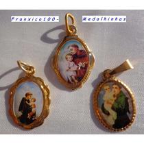 Casamentos,medalhinas Santo Antônio Dourada.pct Com 100 Pçs