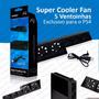 Super Cooler Fan 5 Ventoinhas Playstation 4 Exclusivo Ps4
