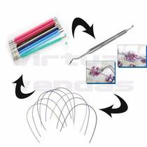 Borrachinhas Aparelho Ortodontico + Aplicador +4fio Colorido