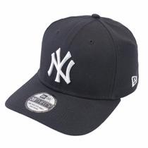 Boné New York Yankees Azul Marinho High Crown Aba Curva S/m
