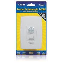 Sensor De Iluminação P/ Presença C/ Botão Liga E Desliga Ecp