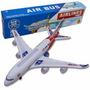 Kit 3 Avião De Brinquedo Air Bus A380 Acende Luz