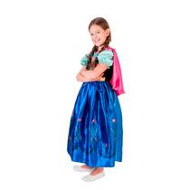 Fantasia Vestido Frozen Anna Luxo Rubies - Original Disney