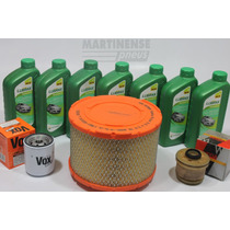 Kit Oleo Hilux 2.5 Diesel Motor Lubrax 15w40 + Filtros Temp